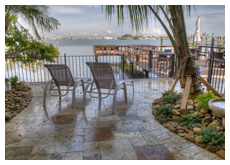 terrace with boca ciego bay water view
