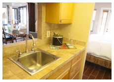 Waterfront Presidential Suite kitchen with sink